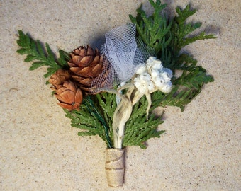 "Wedding Boutonnieres, Groomsmen Boutonnieres, Groom, ""buttonhole."" (choose wrap color)  Bridal, floral."