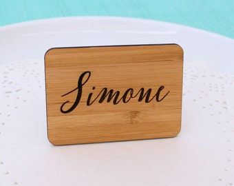 Engraved Bamboo Standing Signs