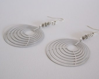 Earrings silver print and bead router