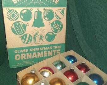 Vintage Shiny Brite ornaments, 2 boxes of 12