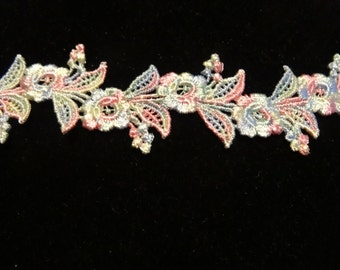 Multi-Colored Venise Lace Trim - Sold by the Yard