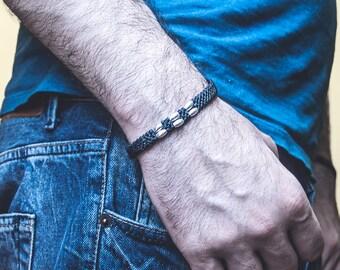 Boyfriend girlfriend bracelet . Custom Friendship Bracelet . Black bracelet. Gift For Him. thank you gift for friend. boyfriend bracelet