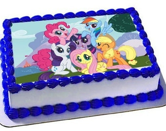 My Little Pony Edible Cake Topper, Frosting Sheet, My Little Pony Birthday, Cupcake Topper,Edible Images