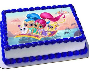Shimmer and Shine Edible Cake Topper, Shimmer and Shine Birthday Party, Frosting Sheet