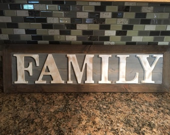 "Rustic ""Family"" sign"