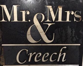 Custom}  Mr. & Mrs. Wedding Sign