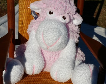 Pink Fuzzy Sheep