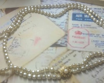 pearl METALL necklace