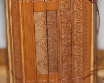 Very Beautiful Chinese Bamboo Mat - The Morals of Confucius