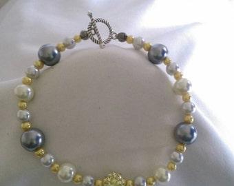 Yellow/Grey Style Bracelet