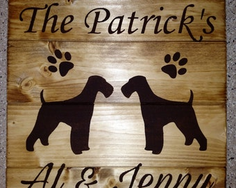 Personalized Airedale Terrier Sign