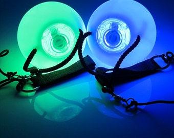 Clearance - Pulse Electronic LED Poi Balls - Set of 2 - Coachella Festival EDC Gear Rave Gear Light Show Light Balls LED Balls