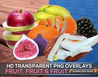100 TRANSPARENT PNG REAL Fruit Transparent Png Files - Apple Strawberry Pineapple Banana Pear Grape, Digital Background, Digital Backdrop