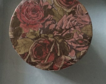 Decoupage gift boxes hanmade various shapes and colours