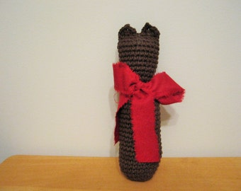 Crocheted Dark Brown Kitty