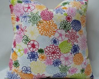 SALE   Decorative Pillow Cover. Fun Floral