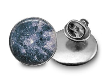 Moon Glass Tie Tack 16mm Tie Pin Lapel pin