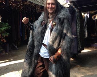 Faux Alpine wolf fur