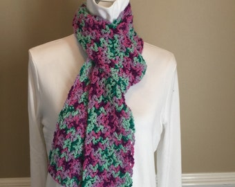 Crochet Scarf in Spring Colors