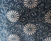 Katazome Futon Cover, Vintage Japanese Boro Patched Indigo Dyed Fabric, Handwoven Stencil Indigo Dyed Cotton Folk Textile, *Free Shipping*