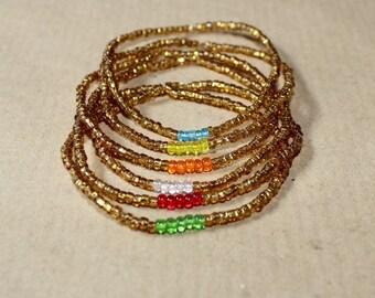 Golden friendship bracelets