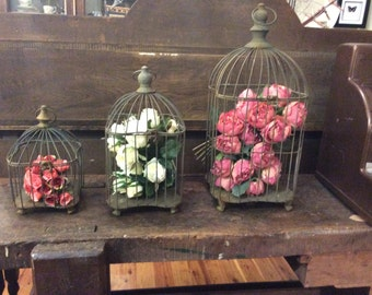 Decorative Metal Antique Vintage Hanging Birdcage Ornate Decor Bird Cage