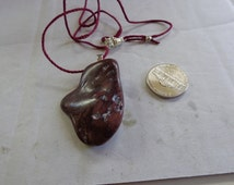 Red Jasper stone, Handmade tumbled smooth.