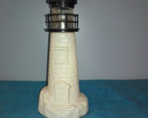 Avon Glass Lighthouse Aftershave Bottle