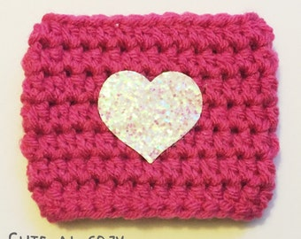 Glitter Heart - Pink Cozy