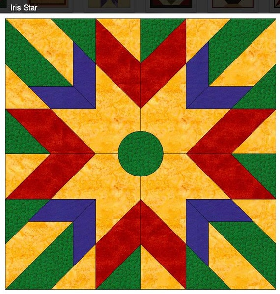 Irish Barn Quilt Patterns : Light weight easy to install Irish Star Barn Quilt with Free