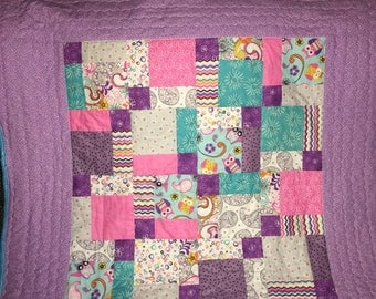 Baby Quilt - Owl you need is love