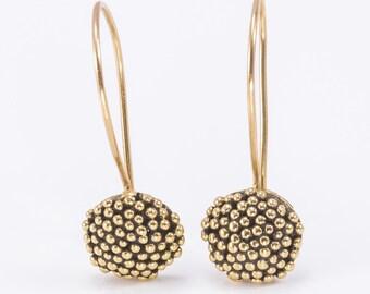 Golden spots earrings - 9k Gold