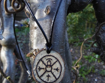 Protection against evil spirits rune sigil necklace