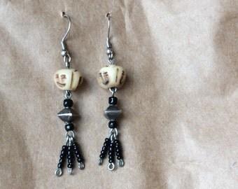 Dangle beaded earrings handmade