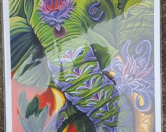 Gam Ganapataye (13x19 Watercolor Print)