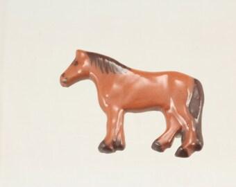 Brown Pony Brooch