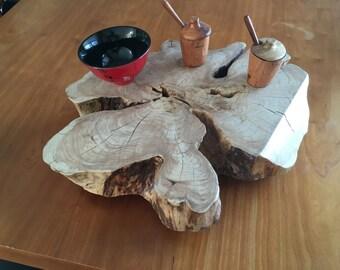 SOLD..Live Edge Plank Trivet - Cedar