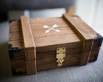 Arrows Handpainted Wooden Box