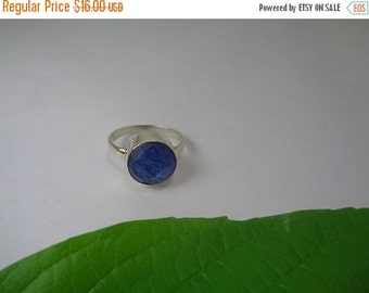 10% Off Valentines Day Gift,  Natural Blue Sapphire Ring, Ring Size 5.5, Sterling Silver Ring, September Birthstone Ring