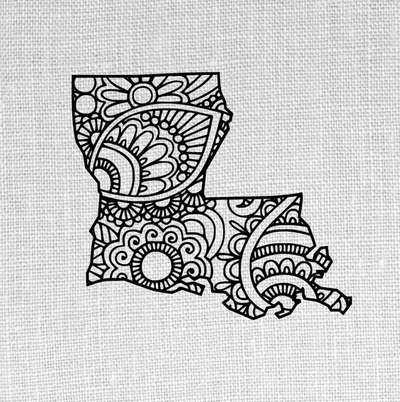 louisiana state SVG and studio doodle design by ...