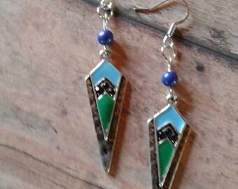 Beautiful handmade one of a kind dangle earrings