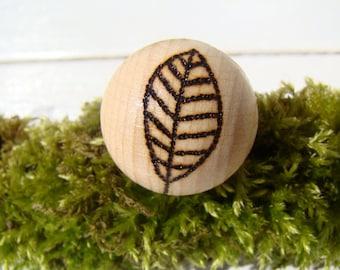 woodland ring, wooden ring, ecologic ring, burned ring, wood ring, woodburned ring, pyrography ring, big ring, leaf ring, natural ring