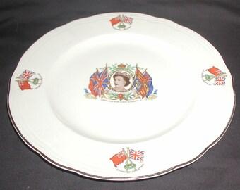 Alfred Meakin Queen Elizabeth II Coronation Plates x 2