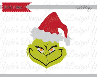 grinch svg christmas inspired layered cutting file in svg eps dxf and ...