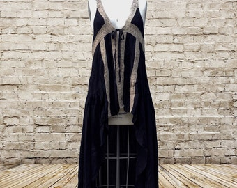 Hi-Low Flirty Tie Dress (Black)