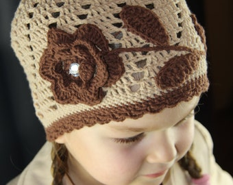 Сrochet hat Baby Girl spring hat Handmade autumn hat Knitted spring beanie Warm hat crochet Spring hat