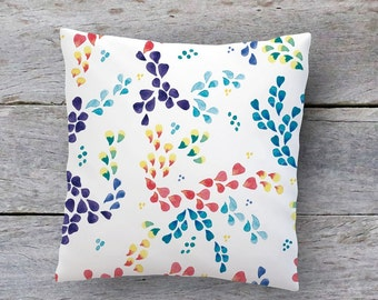 Cushion case northerly style - Pillowcase - cushion soft and warm tonalities - case of blue cushion - design painted with watercolors