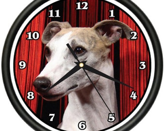 Whippet Wall Clock Dog Doggie Pet Breed Gift