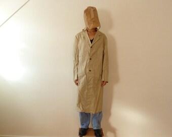 1950s deadstock workwear: long beige overcoat