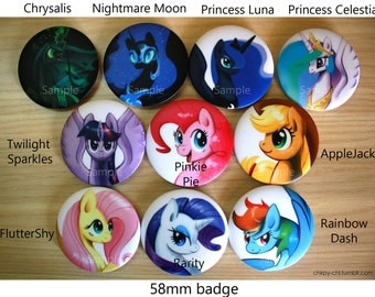 My Little Pony Button Badges